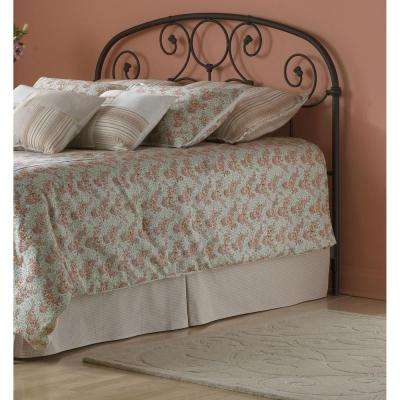 Grafton Twin-Size Metal Headboard with Scrollwork Design and Decorative Castings in Rusty Gold