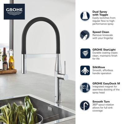 Essence New Single-Handle Pull-Down Sprayer Kitchen Faucet in Polished Nickel