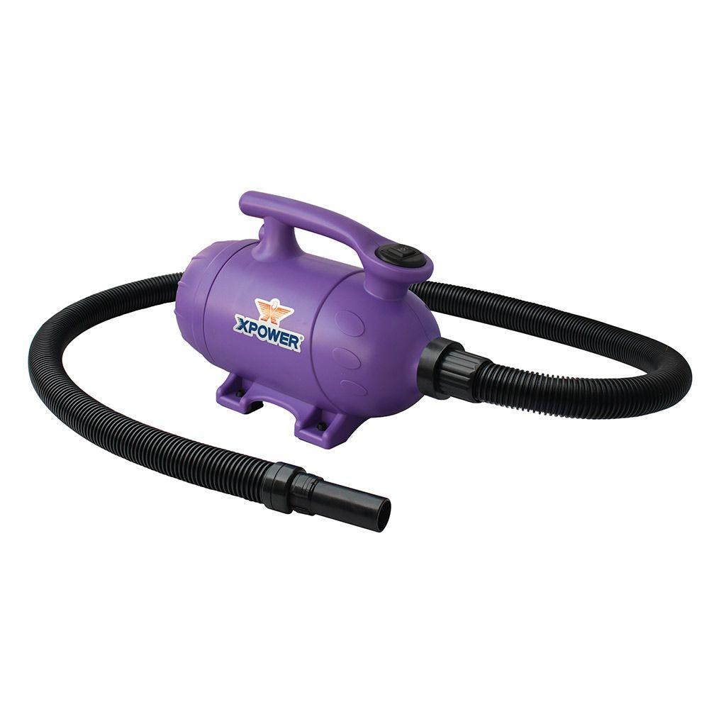 XPOWER 2 HP Purple Pro-At-Home Pet Dryer with Vacuum