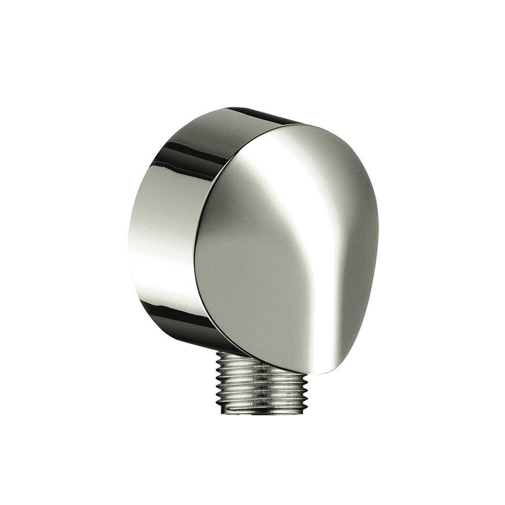 Hansgrohe Wall Outlet with Check Valve in Polished Nickel