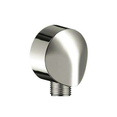 Wall Outlet with Check Valve in Polished Nickel