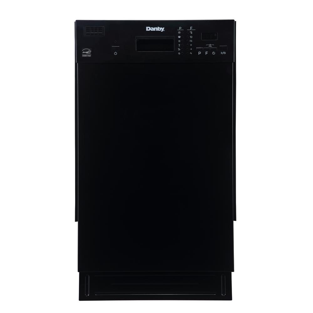 Danby 18 in. Front Control Dishwasher in Black