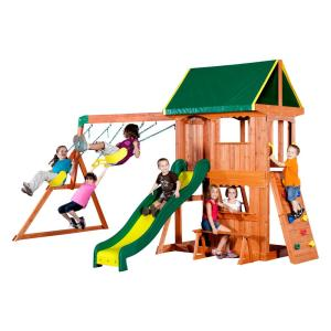 93048e5cc225 Backyard Discovery Tucson All Cedar Playset-65411com - The Home Depot