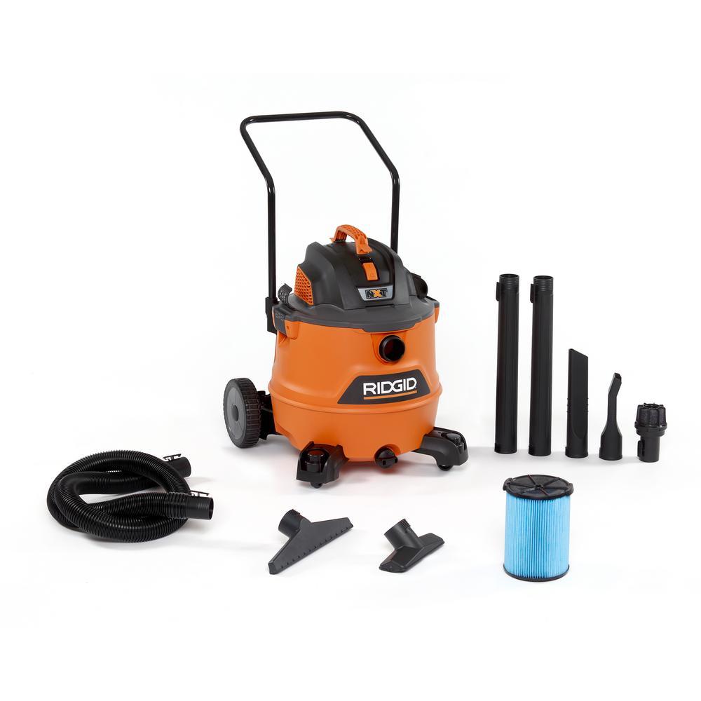 RIDGID RIDGID 16 Gal. 6.5-Peak HP NXT Wet Dry Shop Vacuum with Fine Dust Filter and Accessories, Oranges/Peaches