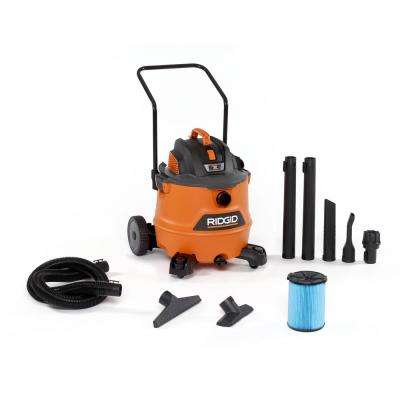 16 Gal. 6.5-Peak HP NXT Wet Dry Vacuum Shop with Cart Fine Dust Filter and Accessories
