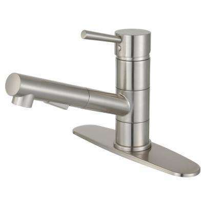 Concord Single-Handle Pull-Out Sprayer Kitchen Faucet in Brushed Nickel