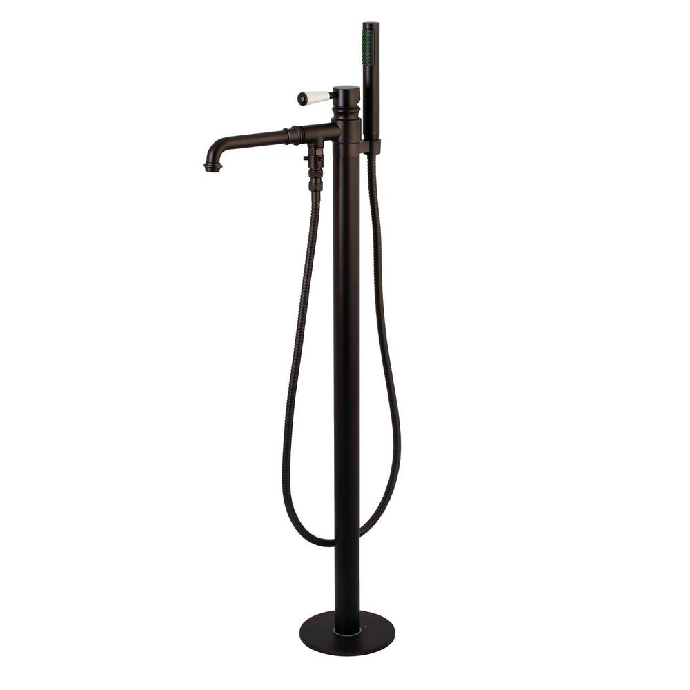Kingston Brass Paris Single-Handle Floor Mount Roman Bath Filler ...