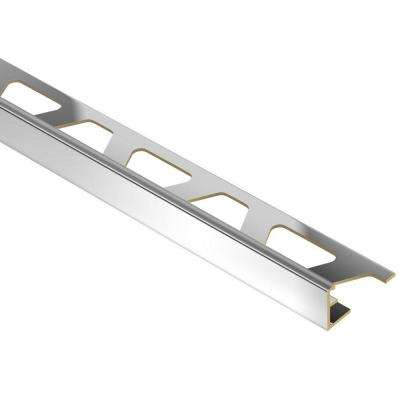 Jolly Chrome-Plated Solid Brass 5/16 in. x 8 ft. 2-1/2 in. Metal Tile Edging Trim