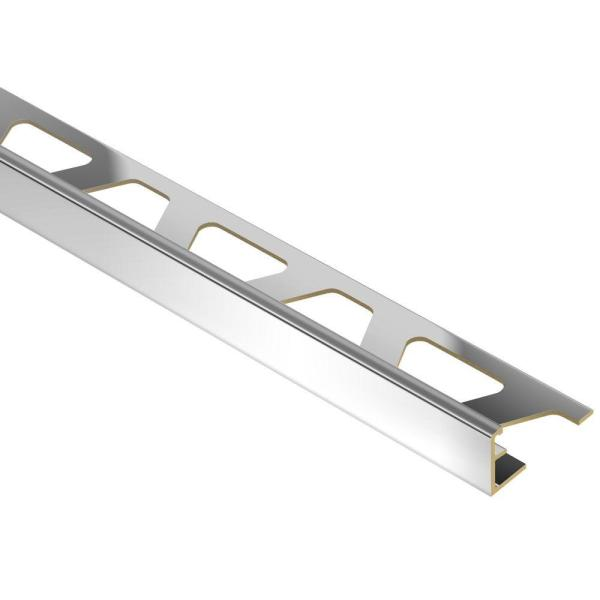 Jolly Chrome-Plated Solid Brass 1/4 in. x 8 ft. 2-1/2 in. Metal Tile Edging Trim