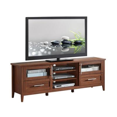 16 in. Oak Particle Board TV Stand with 2 Drawer Fits TVs Up to 65 in. with Storage Doors