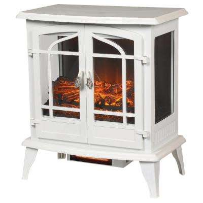 Legacy 1,000 sq. ft. Panoramic Infrared Electric Stove in White
