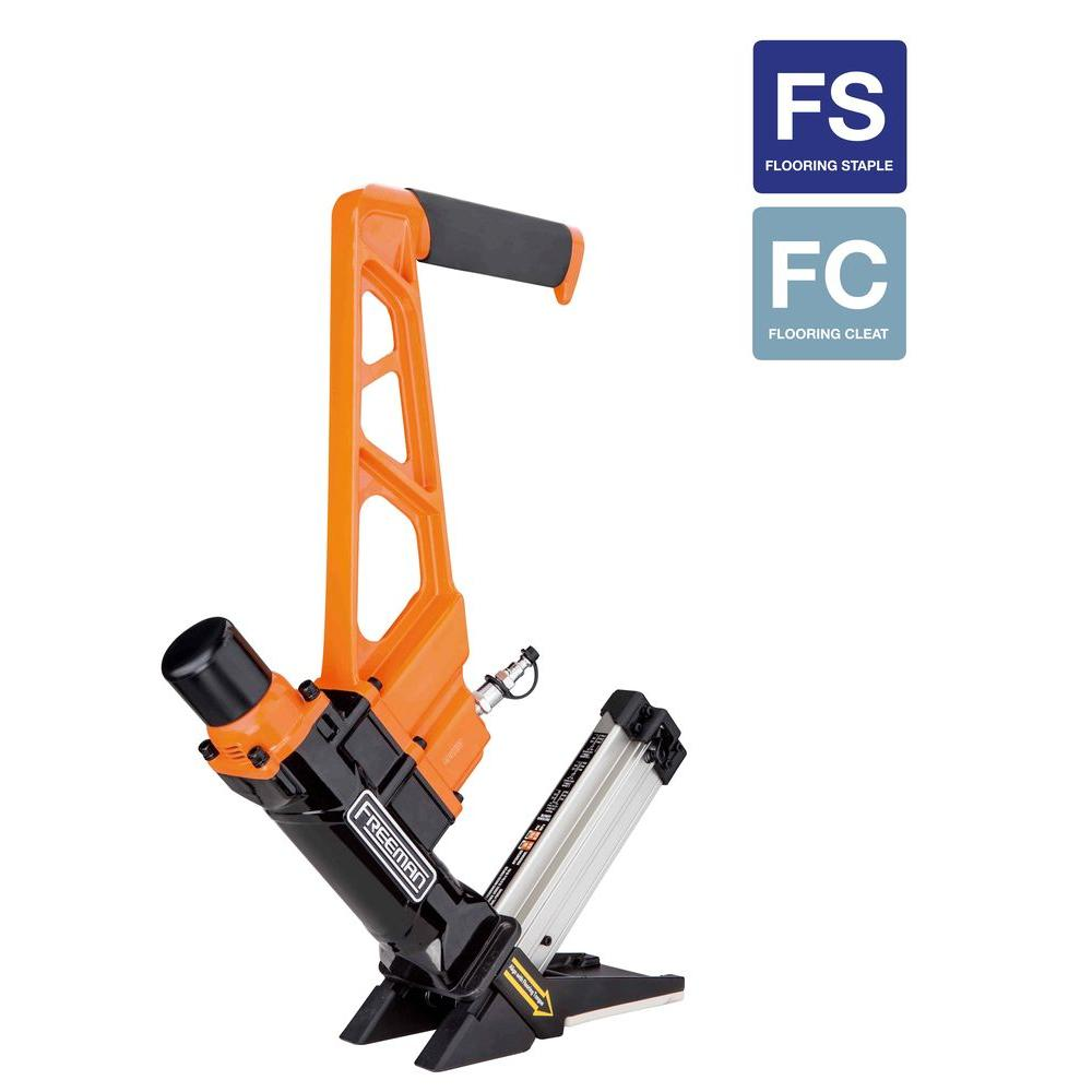 Freeman 3-in-1 Pneumatic Flooring Nailer And Stapler With