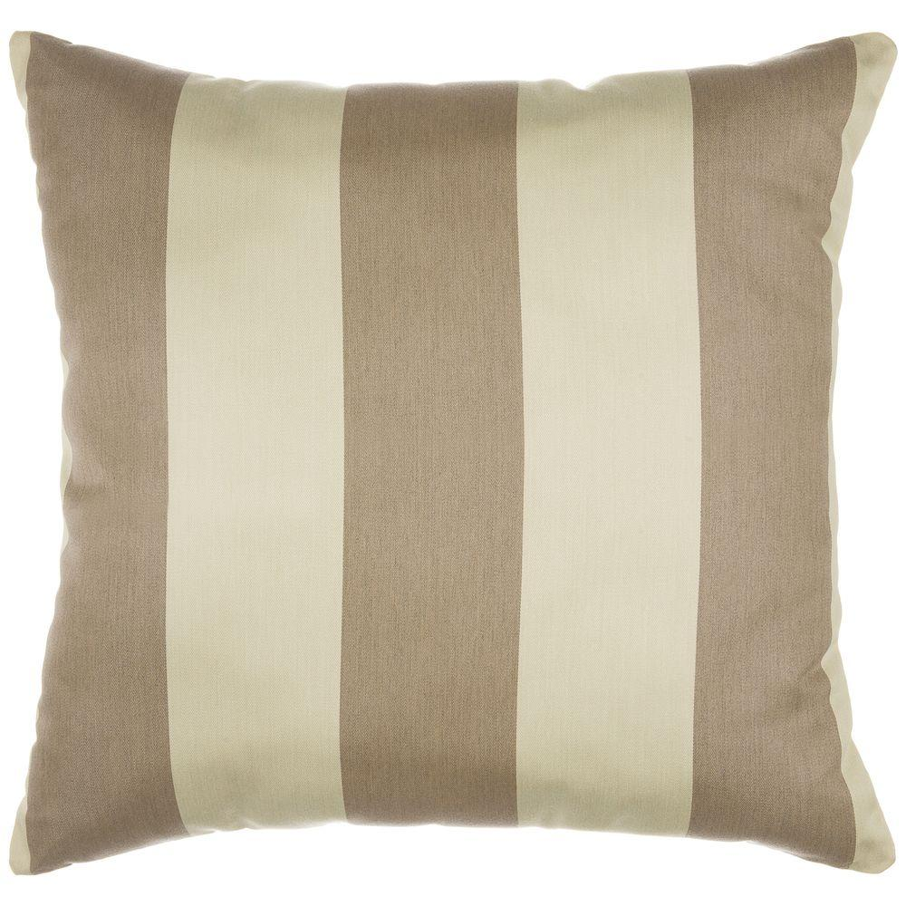 Pawleys Island 18 in. x 18 in. Regency Sand Decorative Pillow