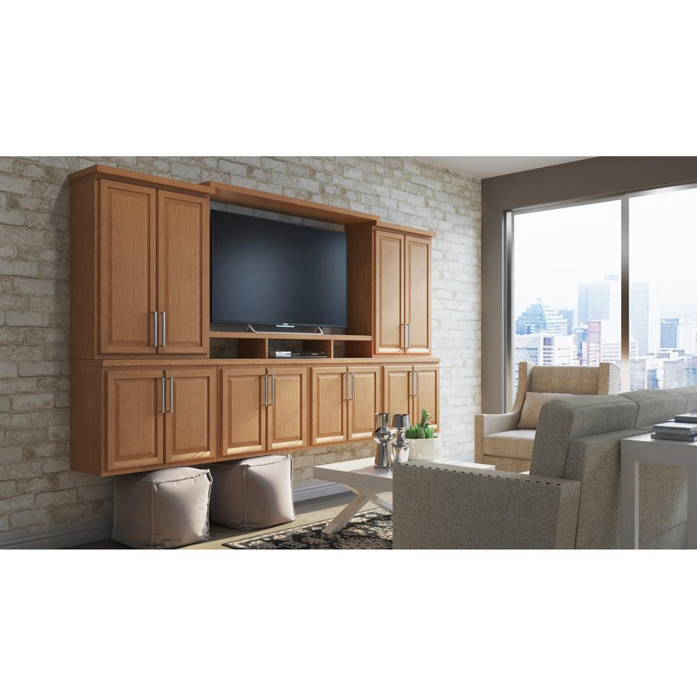hampton assembled 30x12x12 in. wall bridge kitchen cabinet