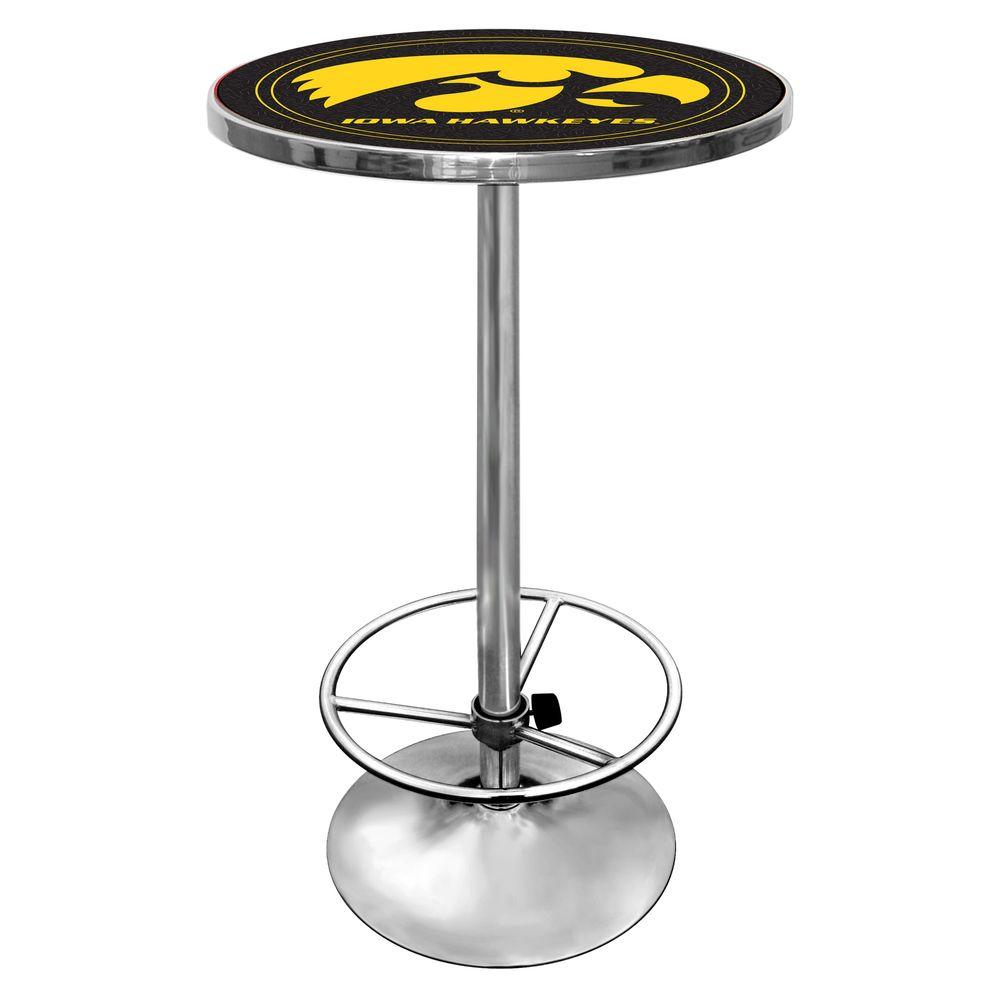 Trademark University of Iowa Chrome Pub/Bar Table