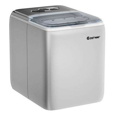 44 lbs. Portable Ice Maker in Silver