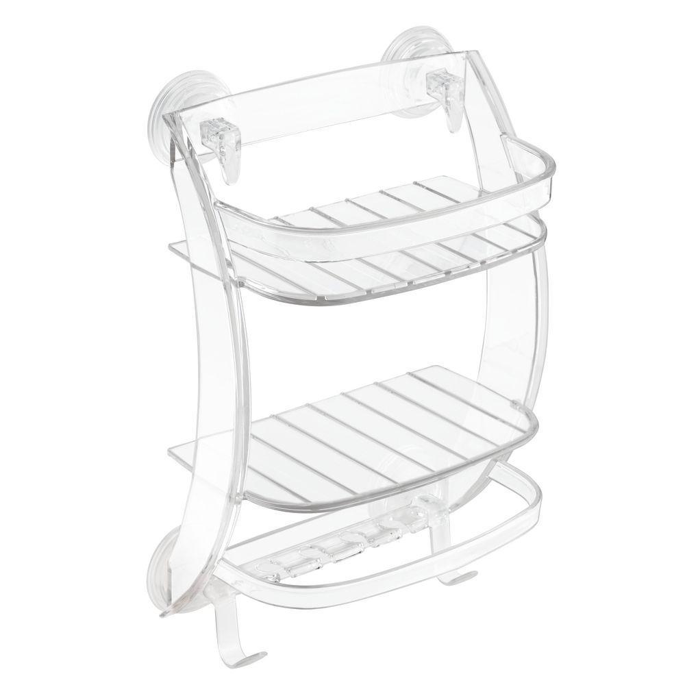 interDesign Powerlock Suction Shower Organizer in Clear-53820 - The ...