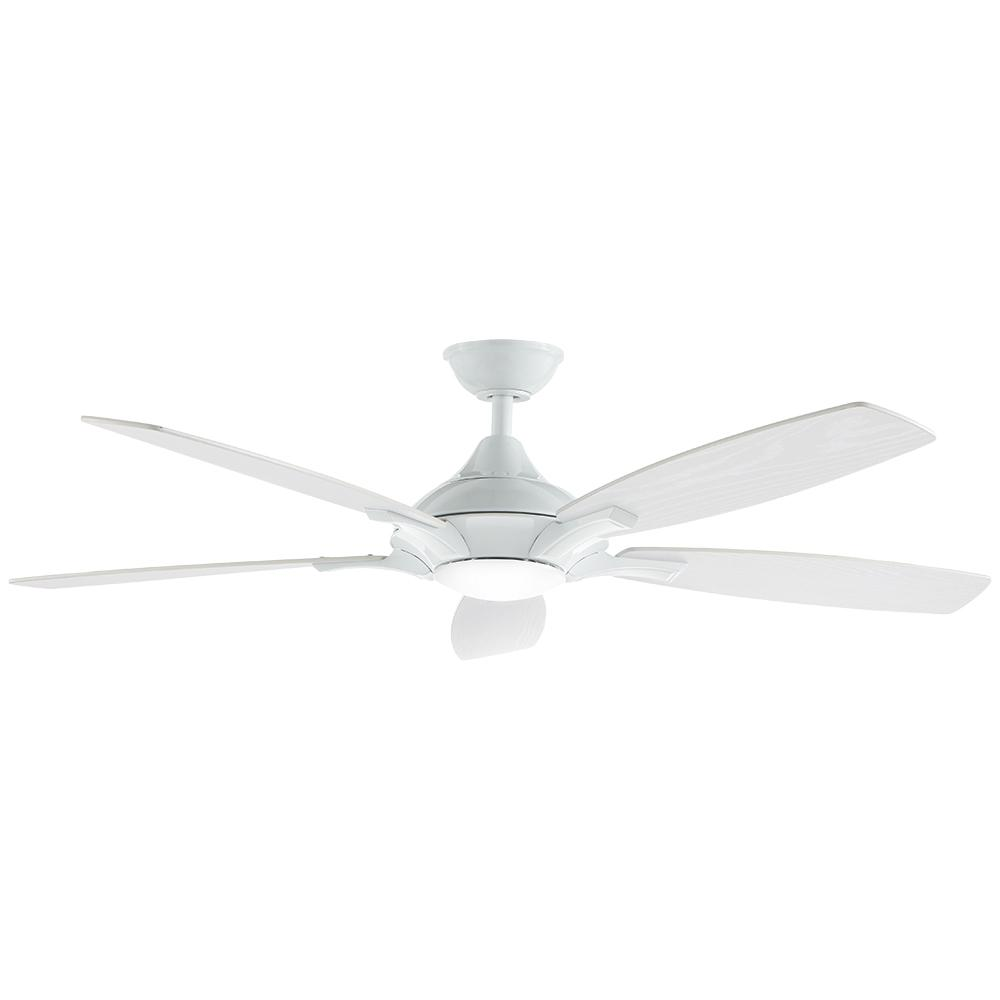 White Ceiling Fan With Light And Remote Modern White