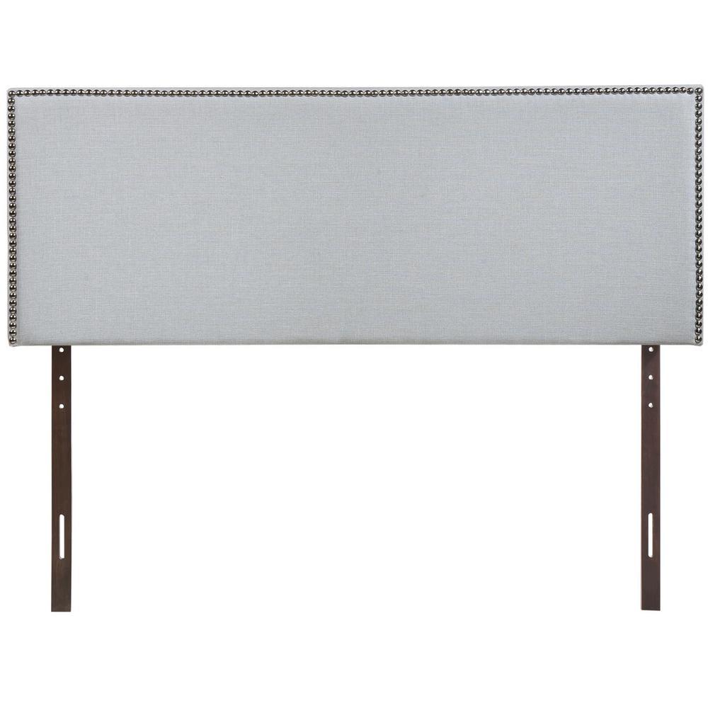 Region Sky Gray Full Nailhead Upholstered Headboard
