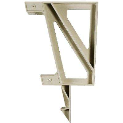22 in. x 18.2 in. x 1.3 in. Resin Deck Bench Bracket Sand