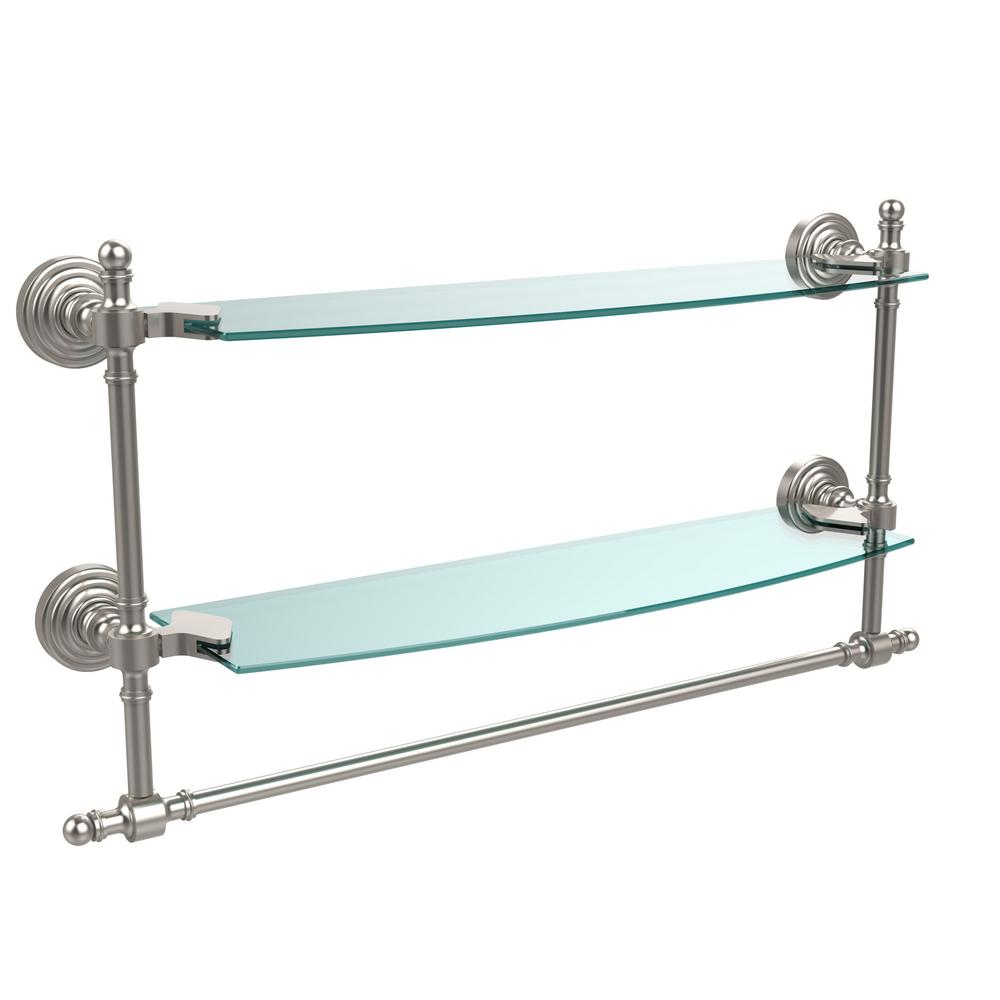 Allied Brass Retro Wave Collection 18 in. Two Tiered Glas...
