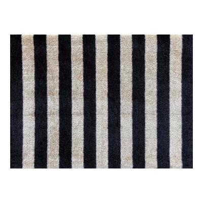 In-Home Washable/Non-Slip Farm House Stripes 2 ft. 3 in. x 1 ft. 5 in. Area Rug & Mat