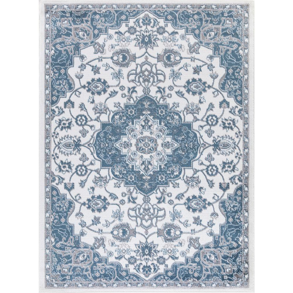 CONCORDGLOBALTRADING Concord Global Trading Madison Collection Royal Medallion Ivory 5 ft. x 7 ft. Area Rug