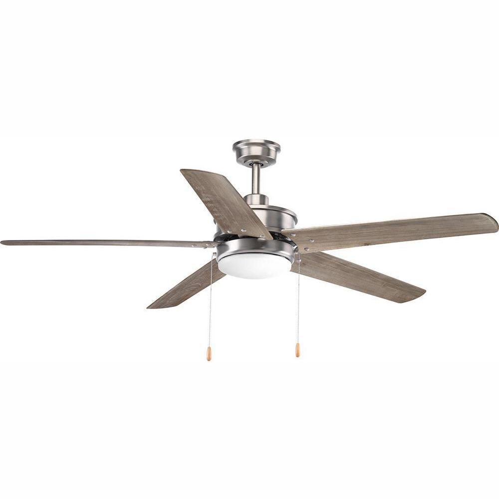Progress Lighting Whirl Collection 60 in. LED Antique Nickel Ceiling Fan