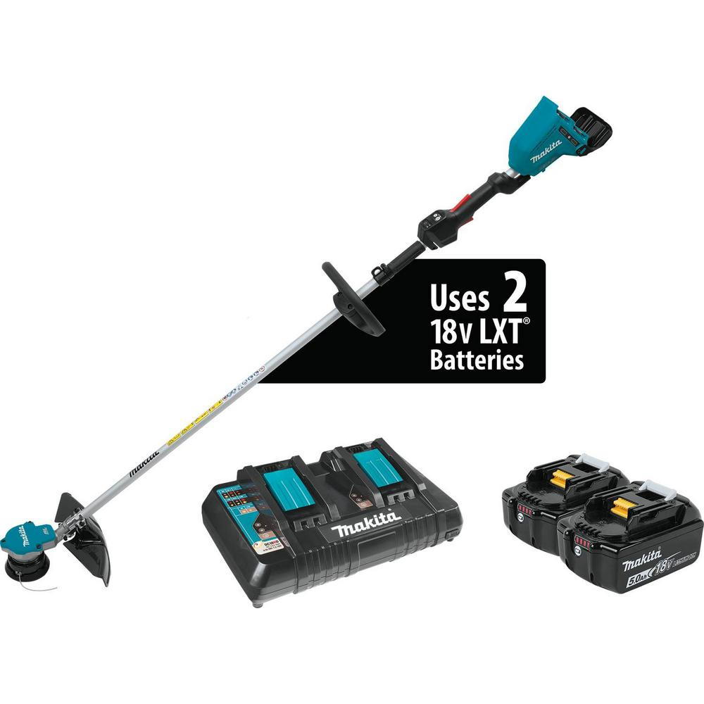 18-Volt X2 (36-Volt) LXT Lithium-Ion Brushless Cordless String Trimmer Kit with