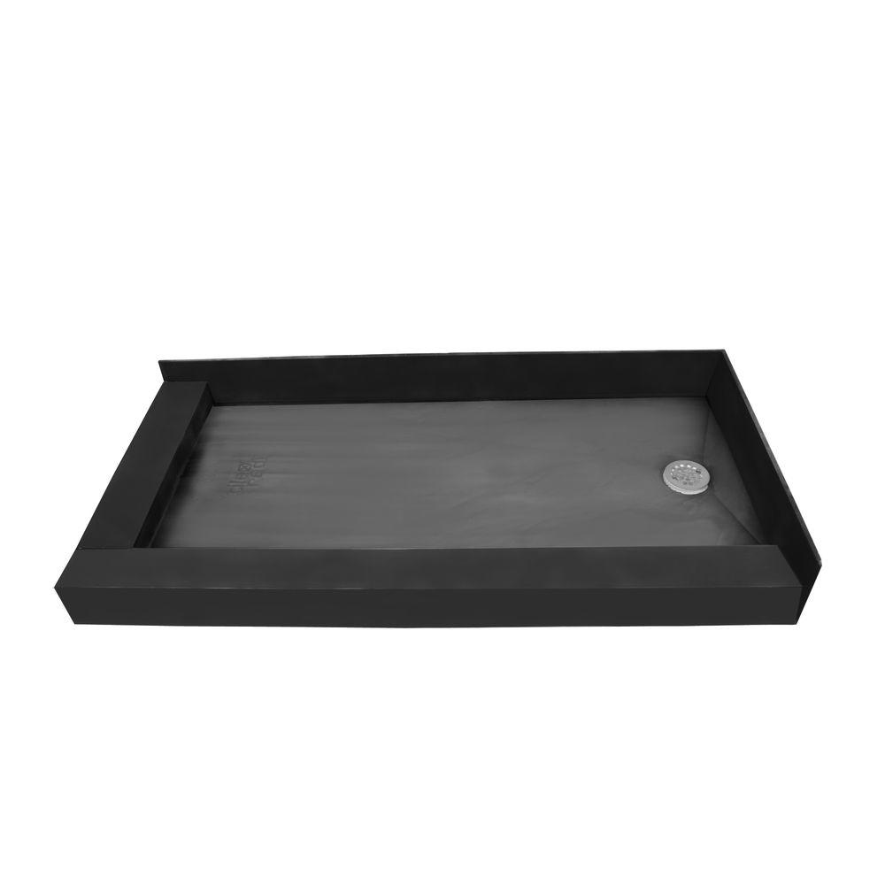 Redi Base 37 In X 60 In Double Threshold Shower Base With Right