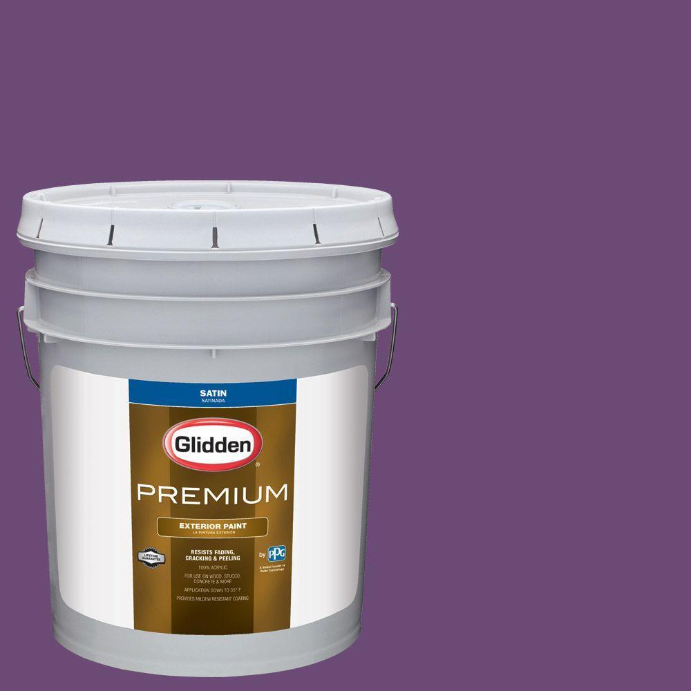 Glidden Premium 5-gal. #HDGV53 Regal Purple Satin Latex Exterior ...