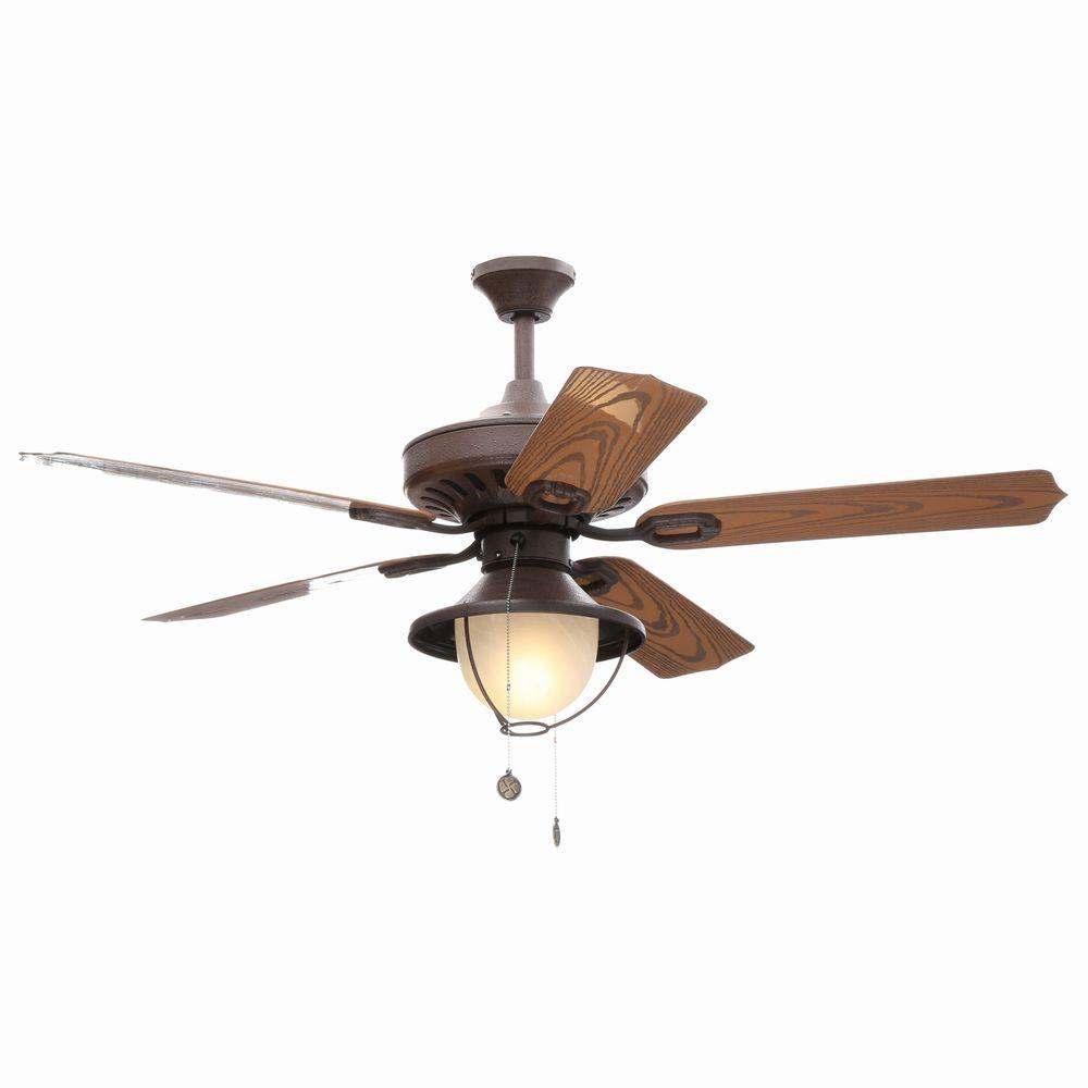 Indoor/Outdoor Weathered Iron Finish Ceiling Fan