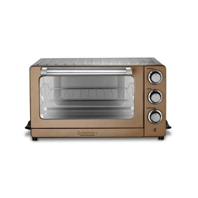 1800 W 6-Slice Copper Stainless Toaster Oven with Broiler