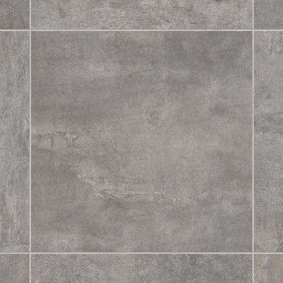 Lonney Grey Residential Vinyl Sheet, Sold by 13.2 ft. Wide x Custom Length