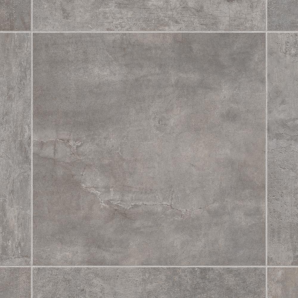Ivc Lonney Grey Stone Residential Vinyl Sheet Flooring 13 2ft Wide X Cut To Length U9870 195c594p158 The Home Depot