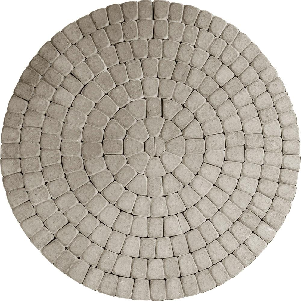 Unbranded 83.52 in. x 83.52 in. x 2.375 in. Summit Blend Concrete Old Dominion Paver Circle Kit