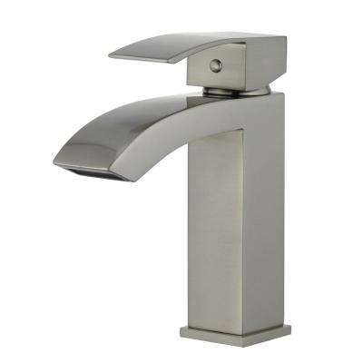 Cordoba Single Hole Single-Handle Bathroom Faucet in Brushed Nickel