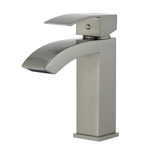 Cordoba Single Hole Single-Handle Bathroom Faucet with Overflow Drain in Brushed Nickel