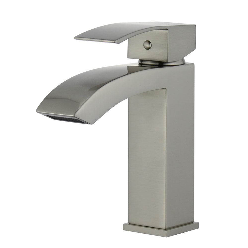 Cordoba Single Hole Single-Handle Bathroom Faucet in Brushed Nickel