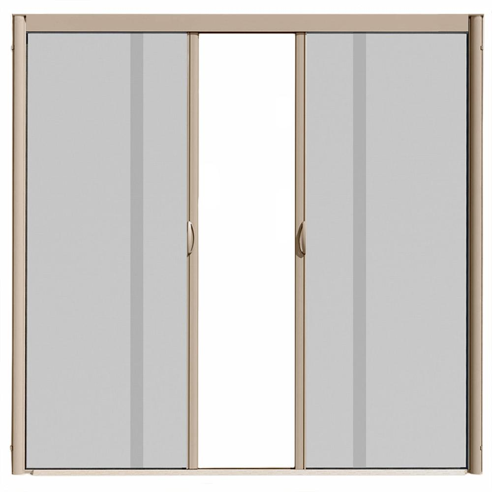 Visiscreen 72 In X 84 In Vs1 White Retractable Screen Door Double