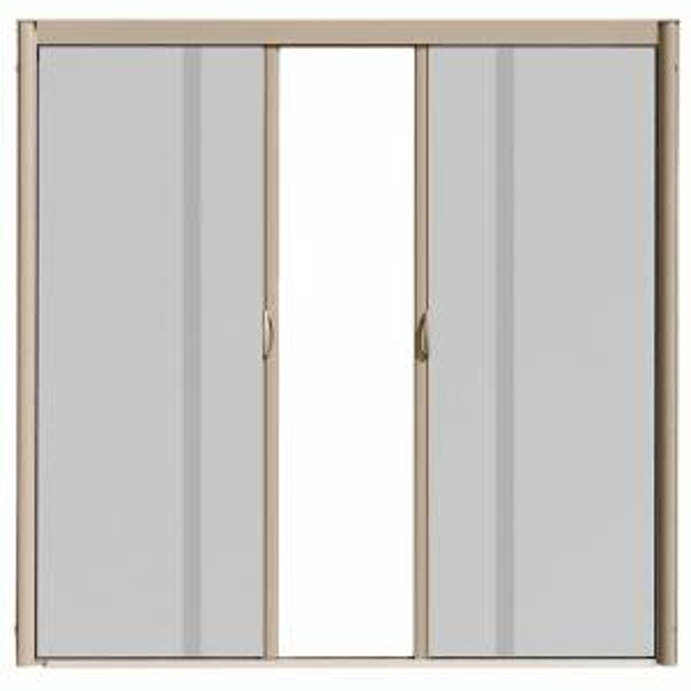 Screen Door Home Depot odl 72 in. x 80 in. brisa sandstone standard height double door