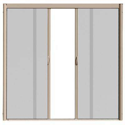72 in. x 84 in. VS1 Desert Tan Retractable Screen Door, Double Cassette