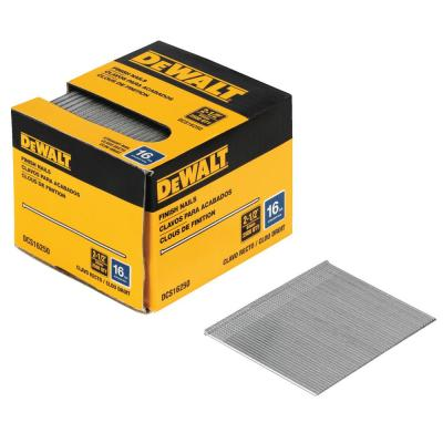 2-1/2 in. x 16-Gauge Plastic Collated Straight Finish Nails (2500 per Box)