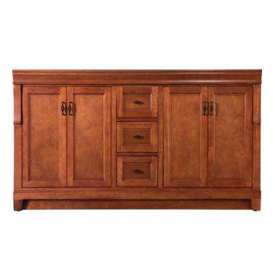 Naples 60 in. W Bath Vanity Cabinet Only in Warm Cinnamon for Double Bowl