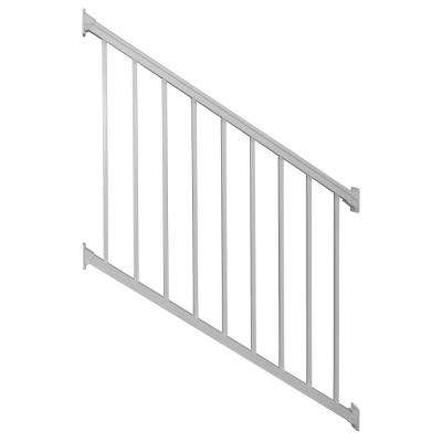 Stanford 36 in. H x 72 in. W Textured White Aluminum Stair Railing Kit