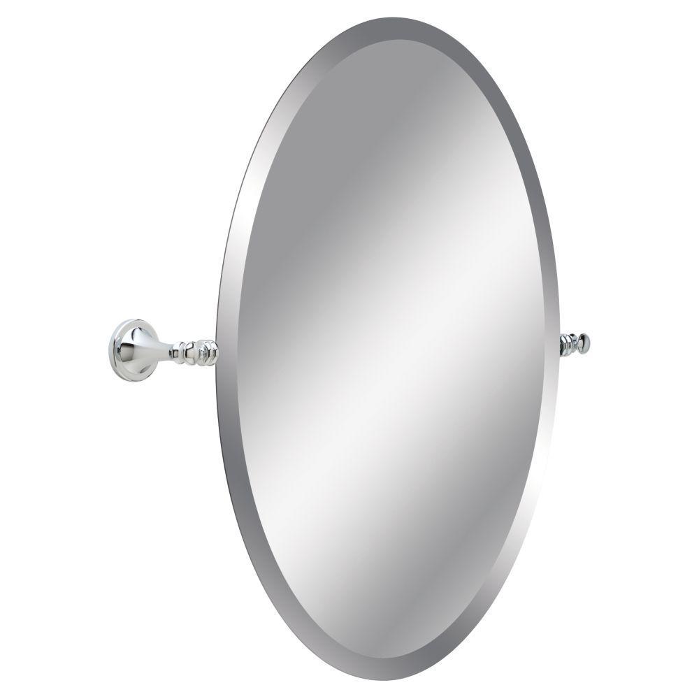 Silverton 26 in. L x 24 in. W Single Wall Mirror in Chrome