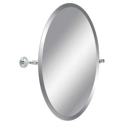 Silverton 26 in. H x 22 in. W Single Wall Mirror in Chrome