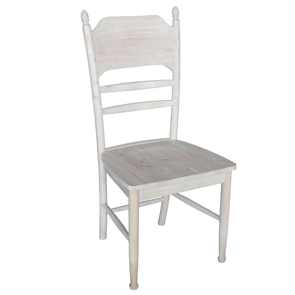 International Concepts Bridgeport Unfinished Side Chair (Set of 2)