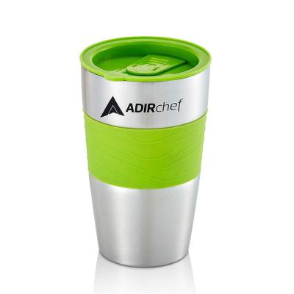 15 oz. Sour Green Stainless Steel Travel Mug (2-Pack)