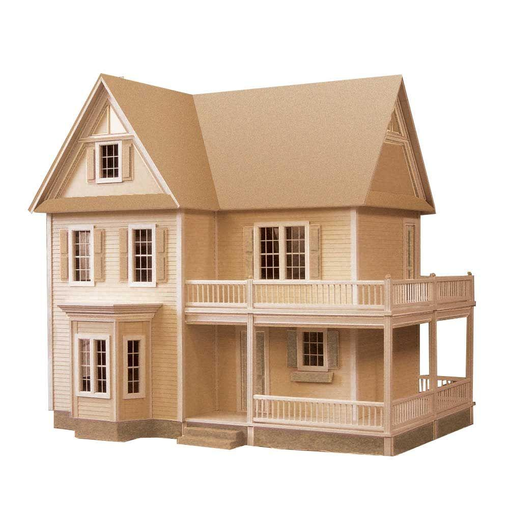 Victoria 39 s farmhouse dollhouse kit 94592 the home depot for Kit build homes